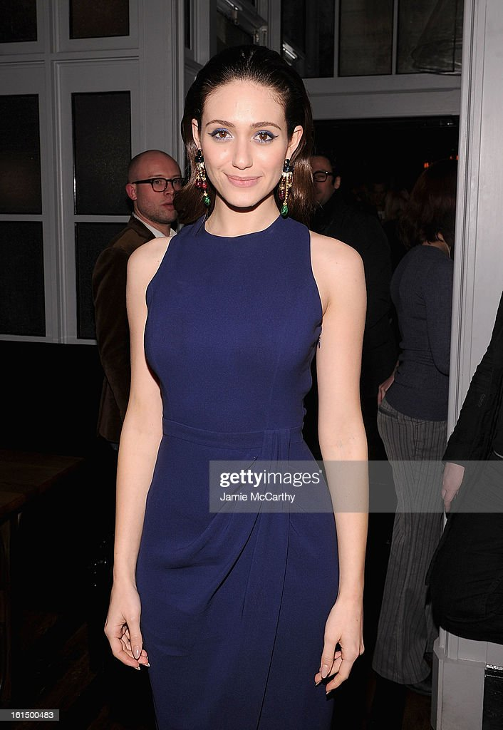 Emmy Rossum attends The Cinema Society And Dior Beauty Presents A Screening Of 'Beautiful Creatures' After Party at Cole's Greenwich Village on February 11, 2013 in New York City.