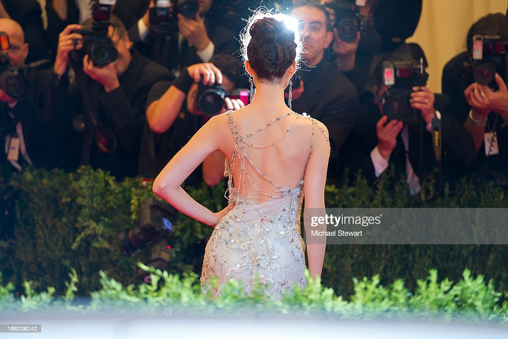 Emmy Rossum attends the Costume Institute Gala for the 'PUNK: Chaos to Couture' exhibition at the Metropolitan Museum of Art on May 6, 2013 in New York City.