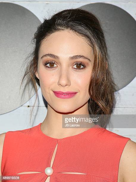 Emmy Rossum attends the go90 Sneak Peek held at the Wallis Annenberg Center for the Performing Art on September 24 2015 in Beverly Hills California
