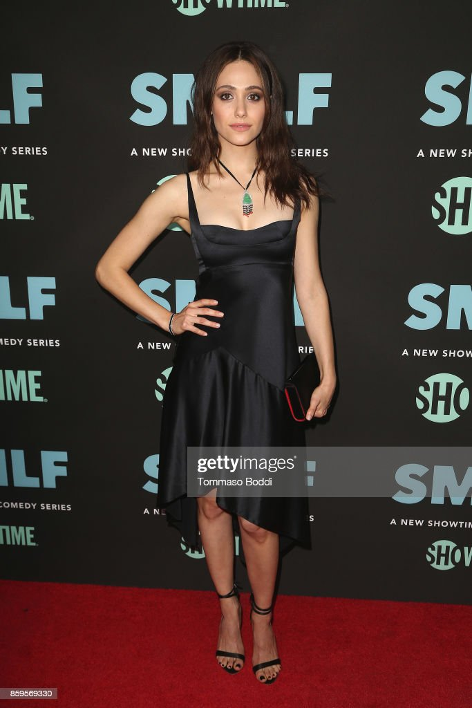Emmy Rossum attends the Premiere Of Showtime's SMILF held at Harmony Gold Theater on October 9, 2017 in Los Angeles, California.
