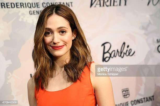 Emmy Rossum attends Variety's Power Of Women New York Brought To You by Barbie at Cipriani 42nd Street on April 24 2015 in New York City