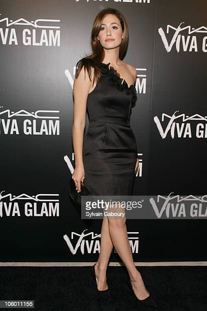 Emmy Rossum during MAC Cosmetics Celebrates Viva Glam VI with Exclusive Dinner Arrivals at Cedar Lake in New York New York United States