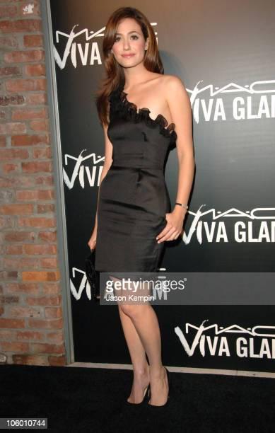 Emmy Rossum during MAC Cosmetics Viva Glam VI Dinner at Cedar Lake in New York City New York United States