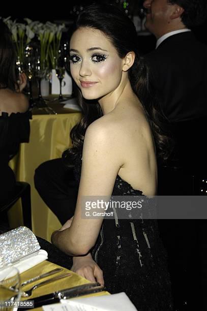 Emmy Rossum during Swarovski Exhibit and Dinner January 182007 at Metropolitan Opera in New York City New York United States