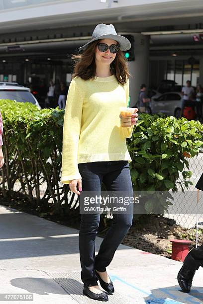 Emmy Rossum is seen at LAX on June 18 2015 in Los Angeles California