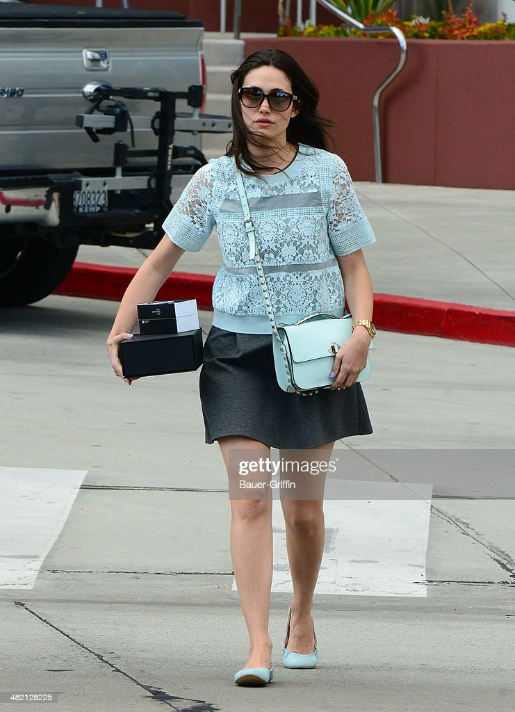 Emmy Rossum is seen on April 02, 2014 in Los Angeles, California.