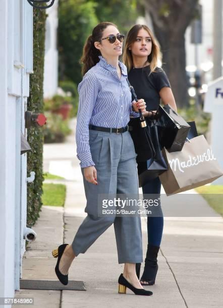 Emmy Rossum is seen on November 08 2017 in Los Angeles California