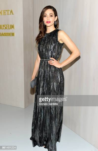 Emmy Rossum wearing Bottega Veneta at the Hammer Museum 15th Annual Gala in the Garden with Generous Support from Bottega Veneta on October 14 2017...