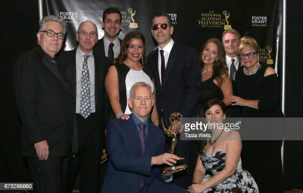 Emmy Winners for Outstanding Drama Series Directing Team for 'General Hospital' attend the 44th Daytime Emmy Awards with Foster Grant on April 30...