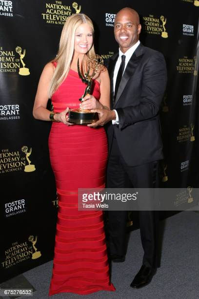 Emmy Winners for Outstanding Entertainment News Program for 'Entertainment Tonight' Nancy O'Dell and Kevin Frazier attend the 44th Daytime Emmy...
