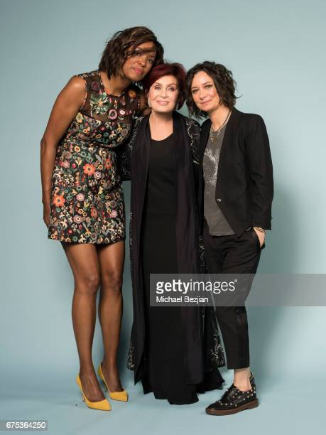 Emmy Winners for Outstanding Entertainment Talk Show Host for 'The Talk' Sharon Osbourne Sara Gilbert and Alisha Tyler attend the 44th Daytime Emmy...