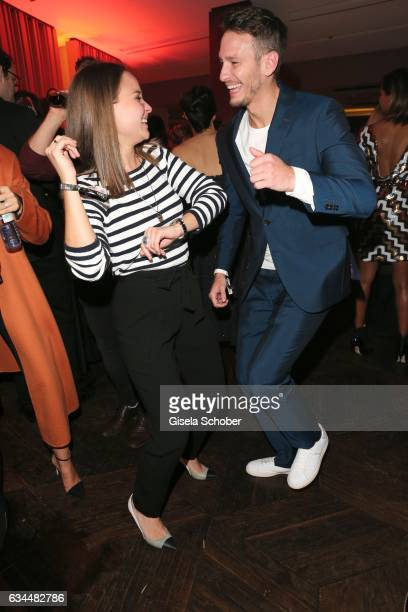 Emmy winners Sonja Gerhardt and Vladimir Burlakov during the Berlin Opening Night by GALA and UFA Fiction at hotel 'The Stue' on February 9 2017 in...