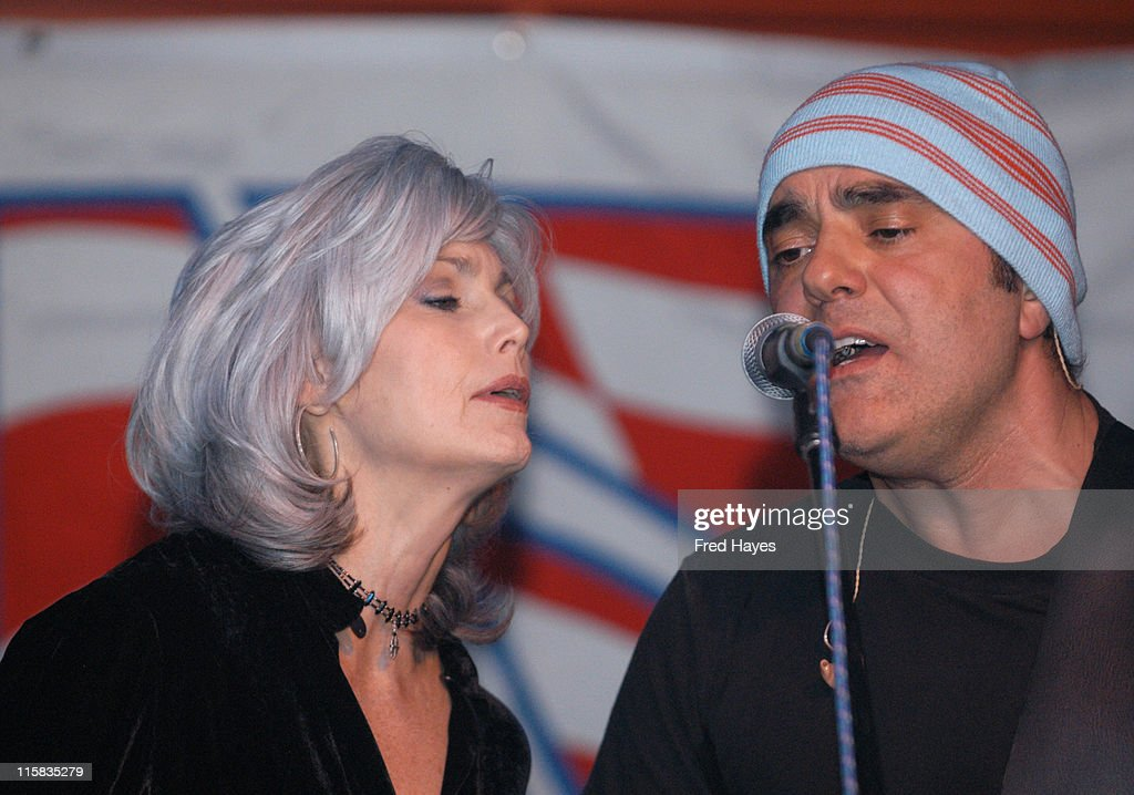 Emmylou Harris and Daniel Lanois during 2003 Sundance Film Festival - Jonny Lang, Emmylou Harris and Others Perform at the Sundance ASCAP Music Cafe at Sundance Music Cafe in Park City, Utah, United States.