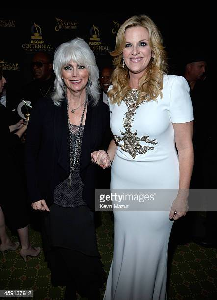 Emmylou Harris and Trisha Yearwood attend the ASCAP Centennial Awards at Waldorf Astoria Hotel on November 17 2014 in New York City
