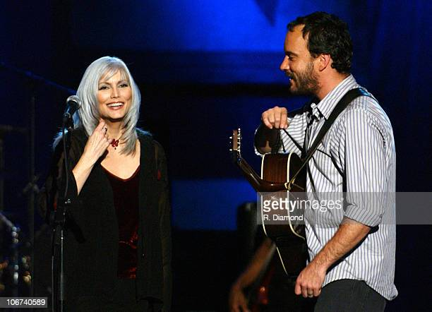 Emmylou Harris Dave Matthews during CMT Crossroads Dave Matthews and Emmylou Harris at The Mannhattan Center in New York New York United States