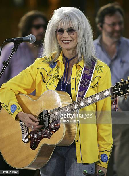 Emmylou Harris during Elvis Costello and Emmylou Harris Perform on NBC's 'The Today Show' 22 July 2005 at Today Studios in New York City New York...