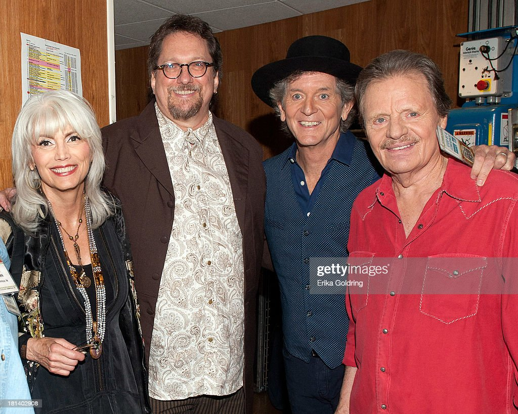 Emmylou Harris, Jerry Douglas, Rodney Crowell and Delbert McClinton backstage at the 12th Annual Americana Music Honors And Awards Ceremony Presented By Nissan on September 18, 2013 in Nashville, United States.