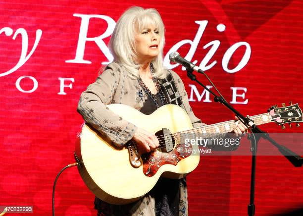 Emmylou Harris performs at the Country Radio Hall Of Fame Dinner Ceremony during CRS 2014 at the Nashville Convention Center on February 18 2014 in...