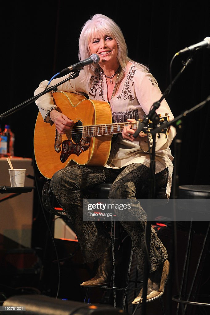 <a gi-track='captionPersonalityLinkClicked' href=/galleries/search?phrase=Emmylou+Harris&family=editorial&specificpeople=240263 ng-click='$event.stopPropagation()'>Emmylou Harris</a> performs during All For The Hall New York Benefiting The Country Music Hall Of Fame at Best Buy Theater on February 26, 2013 in New York City.