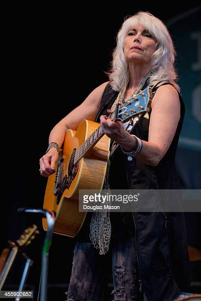 Emmylou Harris performs during the 2014 Fresh Grass Music Festival at Mass MoCA on September 21 2014 in North Adams Massachusetts