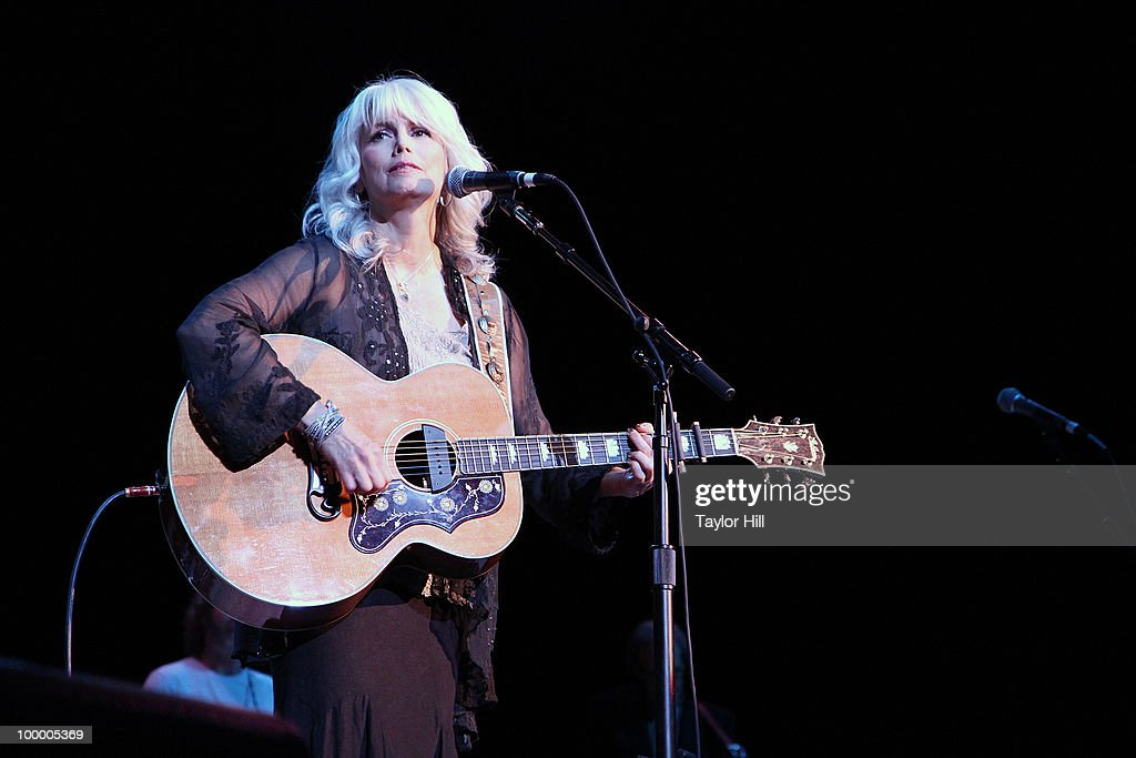 Emmylou Harris performs during the Music Saves Mountains benefit concert at the Ryman Auditorium on May 19, 2010 in Nashville, Tennessee.