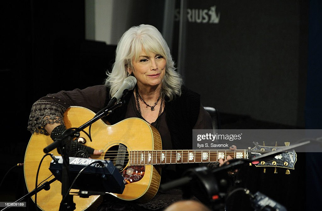 <a gi-track='captionPersonalityLinkClicked' href=/galleries/search?phrase=Emmylou+Harris&family=editorial&specificpeople=240263 ng-click='$event.stopPropagation()'>Emmylou Harris</a> performs on Outlaw Country in the SiriusXM studio on February 27, 2013 in New York City.