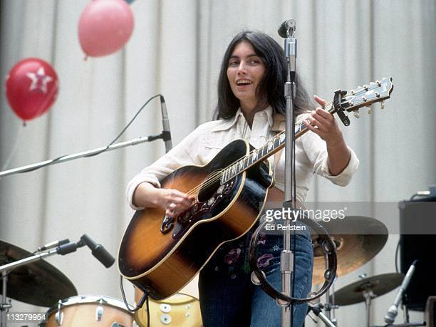 Emmylou Harris performs with the Hot Band at the Greek Theater on August 16 1975 in Berkeley California