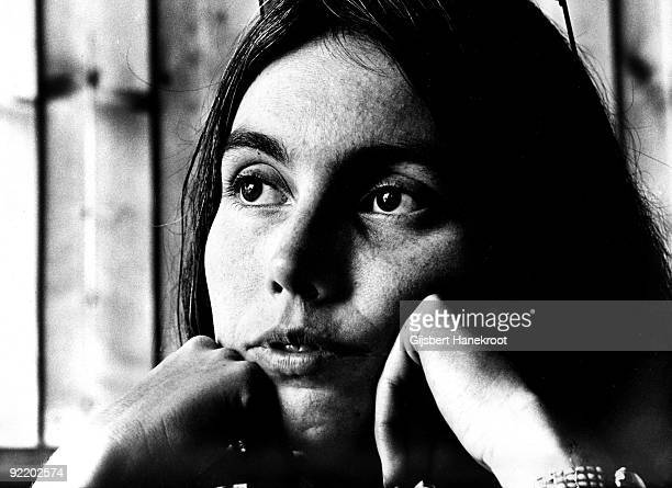 Emmylou Harris posed in Amsterdam Netherlands in 1975