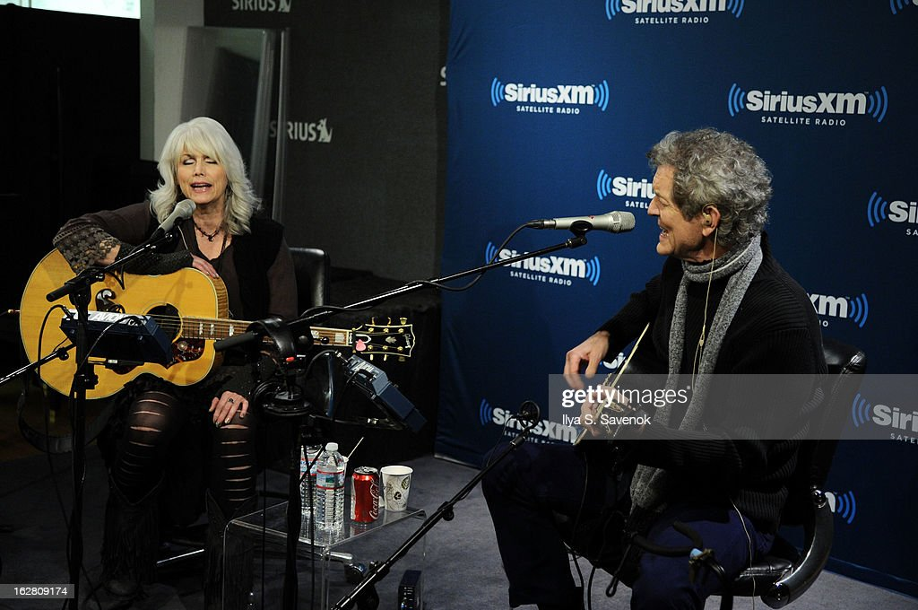 <a gi-track='captionPersonalityLinkClicked' href=/galleries/search?phrase=Emmylou+Harris&family=editorial&specificpeople=240263 ng-click='$event.stopPropagation()'>Emmylou Harris</a> & <a gi-track='captionPersonalityLinkClicked' href=/galleries/search?phrase=Rodney+Crowell&family=editorial&specificpeople=653146 ng-click='$event.stopPropagation()'>Rodney Crowell</a> perform on Outlaw Country in the SiriusXM studio on February 27, 2013 in New York City.