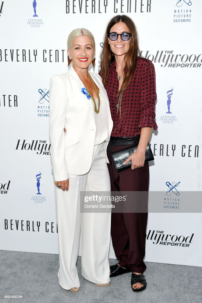 Emmy-nominated 'Westworld' costume designer, Trish Summerville (L) and Laurie Glazier attend Beverly Center and The Hollywood Reporter's Candidly Costume event at Beverly Center on August 16, 2017 in Los Angeles, California.