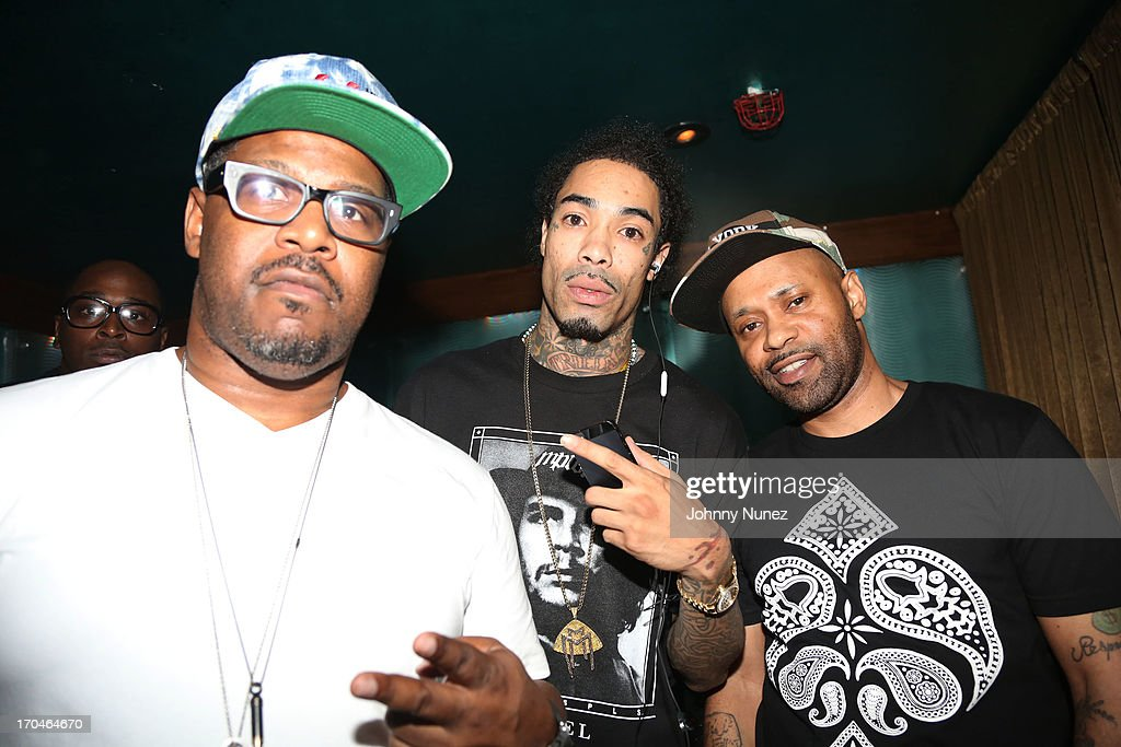 Emory Jones, rapper Gunplay and Warren Tesheira attend S.O.B.'s on June 12, 2013 in New York City.