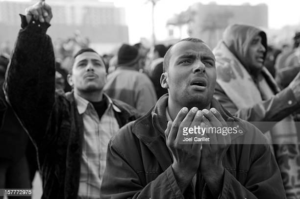 Emotion of protestors in Egypt