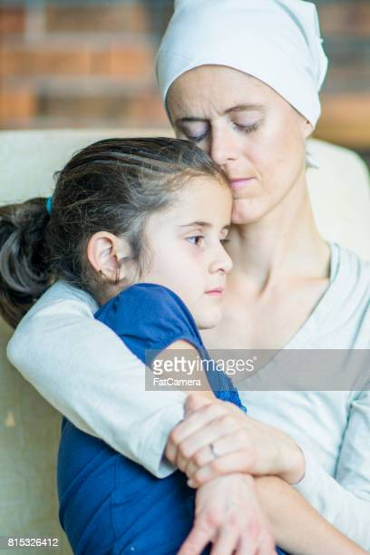 Emotional Hug With Mother and Daughter
