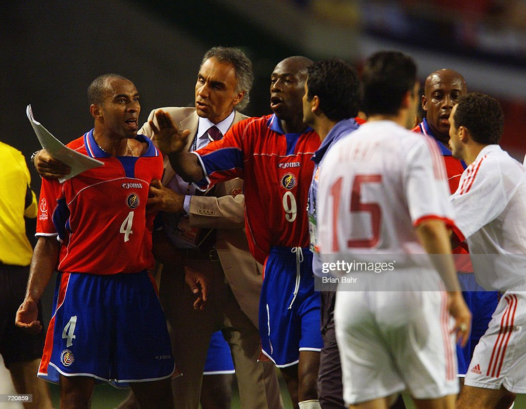 Image result for world cup 2002 costa rica turkey fight