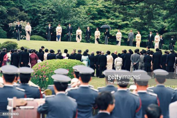Emperor Akihito Empress Michiko Crown Prince Naruhito Crown Princess Masako Prince Akishino Princess Sayako Prince Hitachi Princess Hanako of Hitachi...
