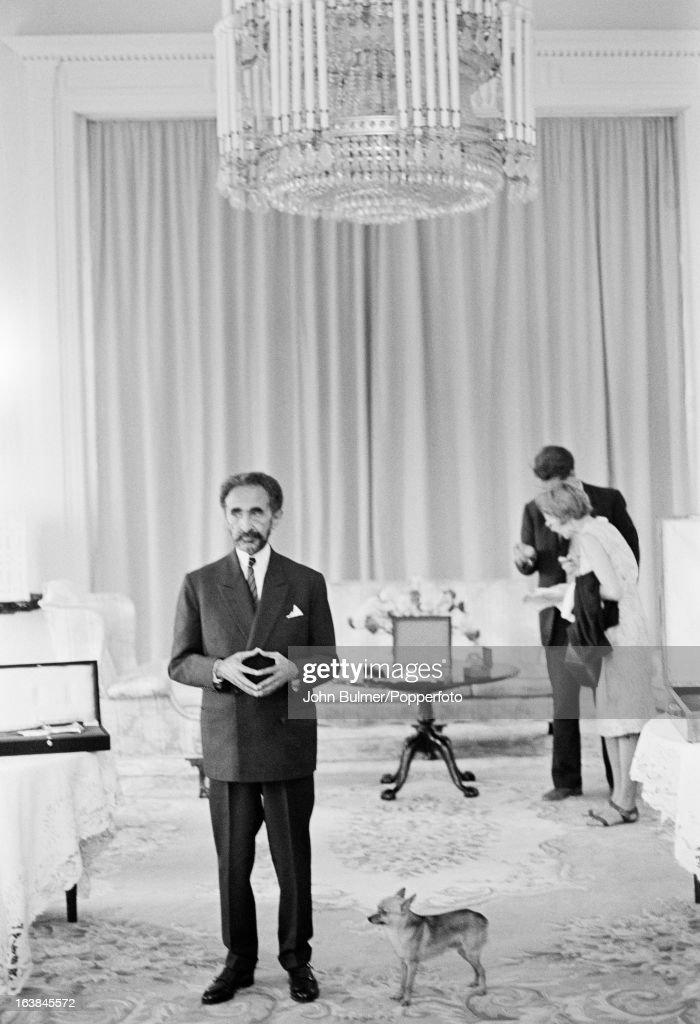 Emperor Haile Selassie...