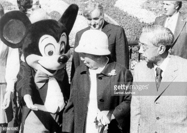 Emperor Hirohito and Empress Nagako visit Disneyland during their visit to United States on October 9 1975 in Anaheim Carifornia