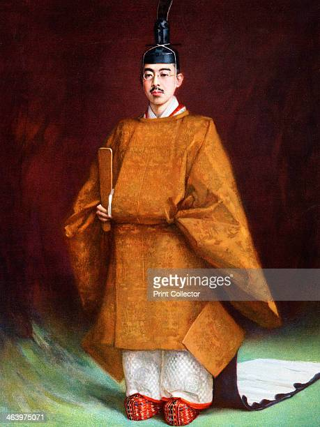 Emperor Hirohito in his coronation garments c1924 Portrait of Hirohito the 124th Emperor of Japan according to the traditional order of succession...