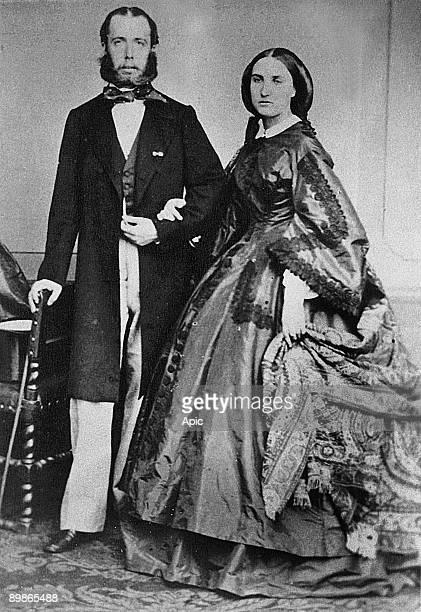 emperor Maximilian of Mexico and his wife empress Carlota of SaxeCoburgGotha and of Belgium here photographed c1864