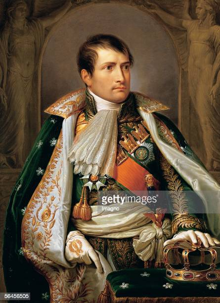 Emperor Napoleon I Bonaparte of France Image as King of Italy Painting Andrea Appianis studio Oil on canvas about 1805 [Kaiser Napoleon I Bonaparte...