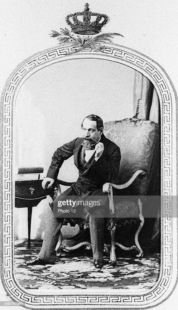 Emperor <a gi-track='captionPersonalityLinkClicked' href=/galleries/search?phrase=Napoleon+III&family=editorial&specificpeople=79405 ng-click='$event.stopPropagation()'>Napoleon III</a>, (Paris 1808 -Chislehurst, Kent, 1873), Third son of Hortense de Beauharnais and Louis Bonaparte, King of Holland, brother of Napoleon I, President of the Second French Republic from 1848 to 1852, Emperor of the French from 1852 to 1870.
