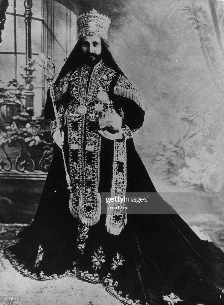 Emperor of Ethiopia, Haile Selassie (1892 - 1975) after his coronation.
