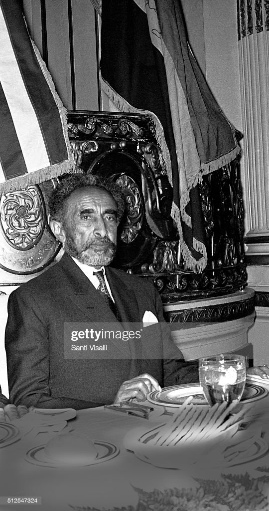Emperor of Etiopia Haile Selassie posing for a portrait on December 3, 1960 in New York, New York.