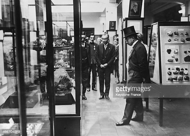 Emperor of Japan Hirohito a science and art lover at Imperial Science Museum on November 24 1931 in Tokyo Japan