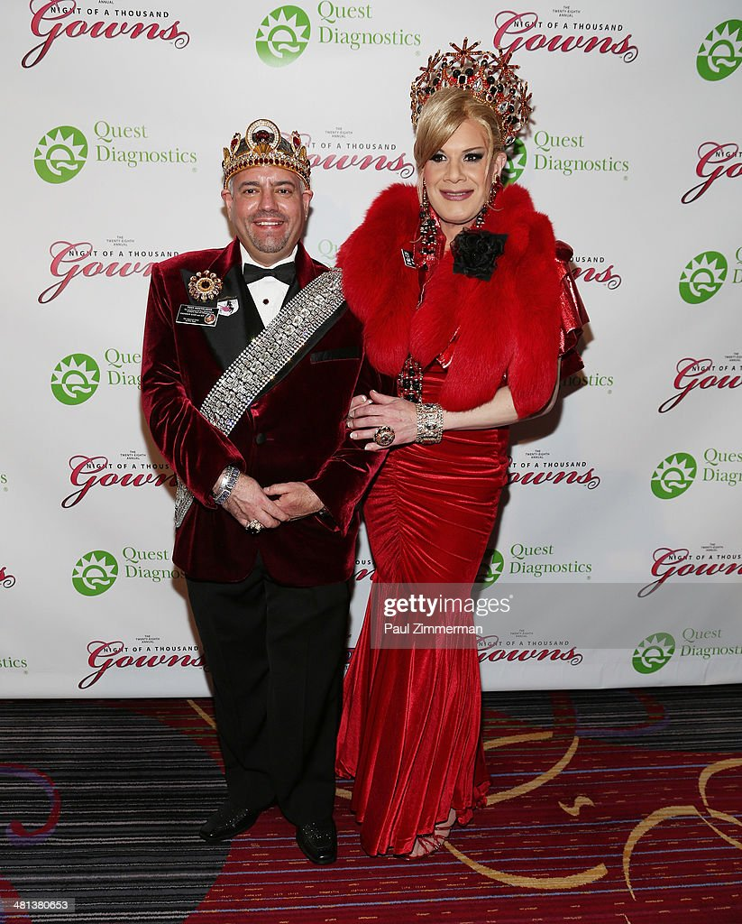 Emperor Tony Monteleone (L) and Empress Anne Tique attend the 28th annual Night of a Thousand Gowns at the Marriott Marquis Times Square on March 29, 2014 in New York City.