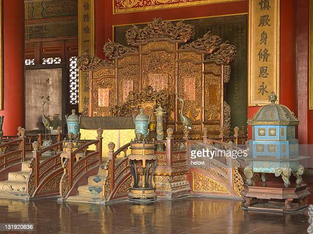 Emperors Throne in Forbidden city