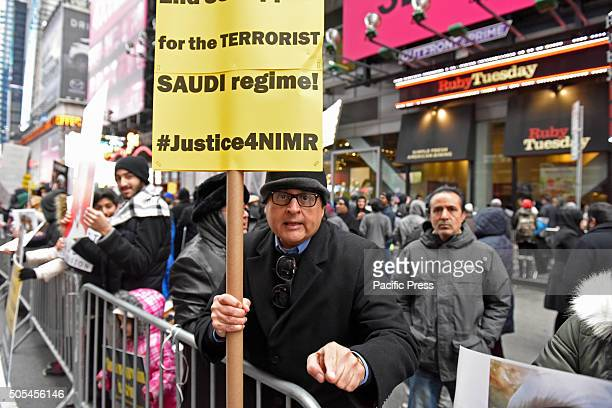 Emphasizing a point against USSaudi collaboration in Times Square Hundreds of Muslims gathered in Times Square to protest against the Saudi...