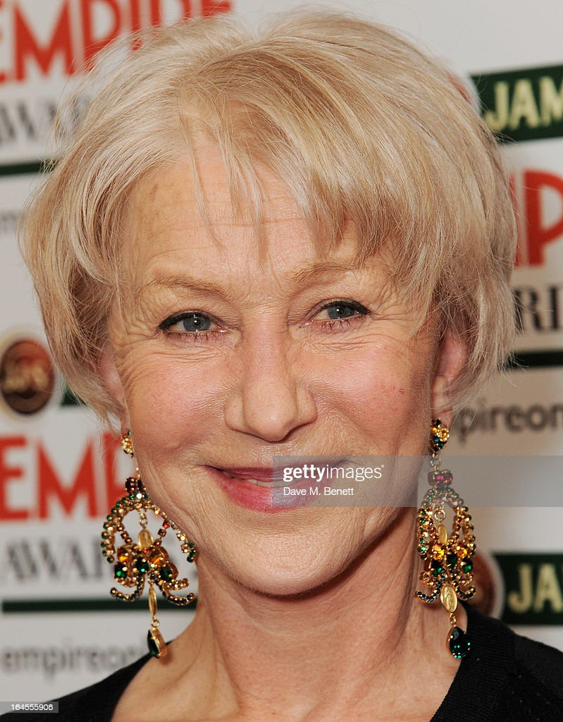 Empire Legend winner Dame <a gi-track='captionPersonalityLinkClicked' href=/galleries/search?phrase=Helen+Mirren&family=editorial&specificpeople=201576 ng-click='$event.stopPropagation()'>Helen Mirren</a> poses in the press room at the Jameson Empire Awards 2013 at The Grosvenor House Hotel on March 24, 2013 in London, England.
