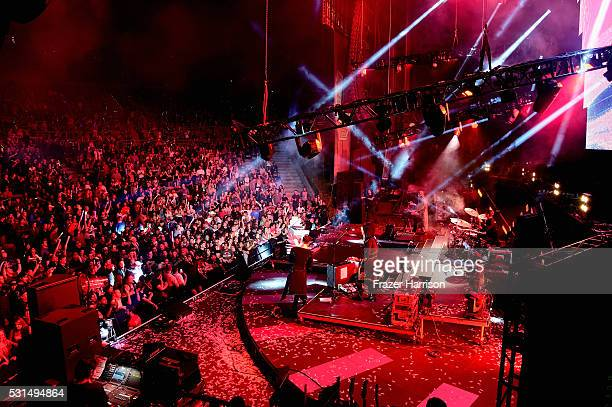 Empire of the Sun performs onstage at KROQ Weenie Roast 2016 at Irvine Meadows Amphitheatre on May 14 2016 in Irvine California