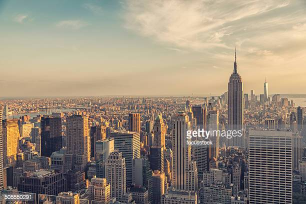 Empire State building and manhattan panorama in NYC